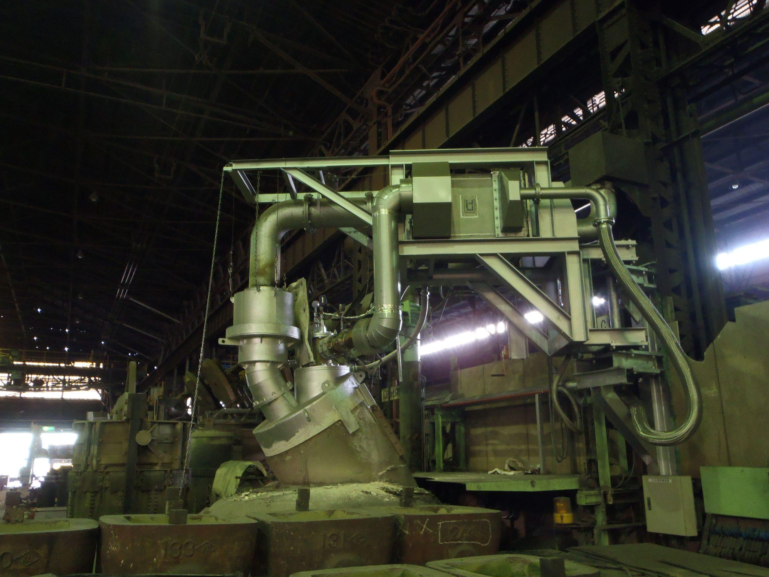 廃熱回収式取鍋予熱装置